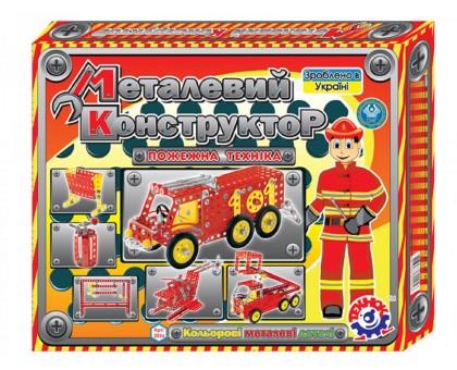 Конструктор металлический  «Пожарная техника ТехноК»