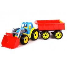"""Іграшка """"Трактор з ківшом і причепом ТехноК"""""""