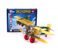 Конструктор металлический «Самолет-биплан ТехноК»