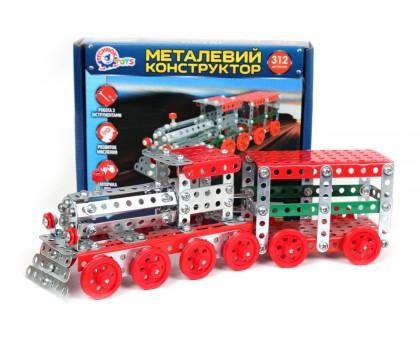 Конструктор металевий «Потяг ТехноК»